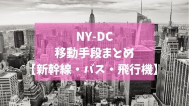 【最安値1ドルから】ニューヨーク・ワシントンDC間の移動手段比較【電車・バス・飛行機】