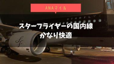 スターフライヤー国内線搭乗機【関空-羽田】ANAマイル