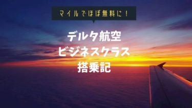 【機内食に寿司】デルタ航空ビジネスクラスDELTA ONE搭乗記:マイル利用で超格安!